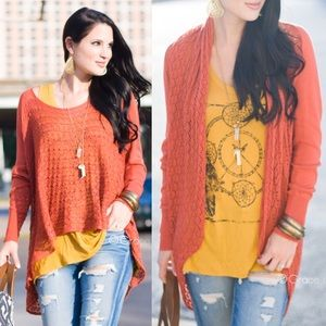 Grace & Lace Lightweight Two Fit Knit Cardigan